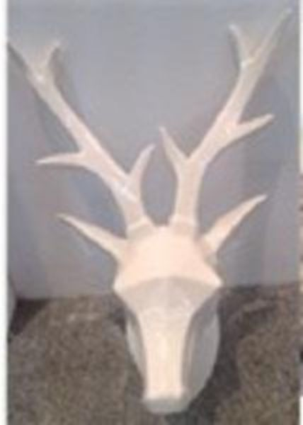 Picture of WHITIDEER CERAMIC ANIMAL HEAD WT
