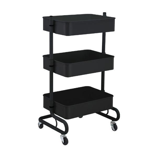 Picture of ELVIRO 3 Tiers storage cart BK