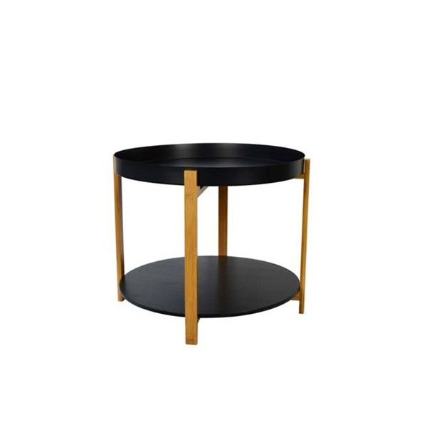 Picture of SCARLET L Bamboo Side table 45cm BK