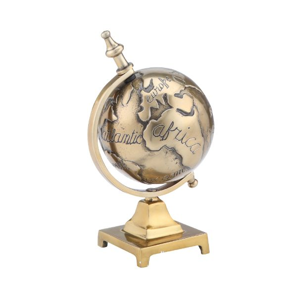 Picture of GEOR Globe sculpture 12.5x11.5x21.5cm BS