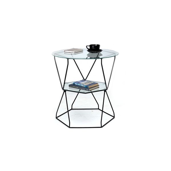 Picture of BENA Glass coffee table 60 CM BK/CG