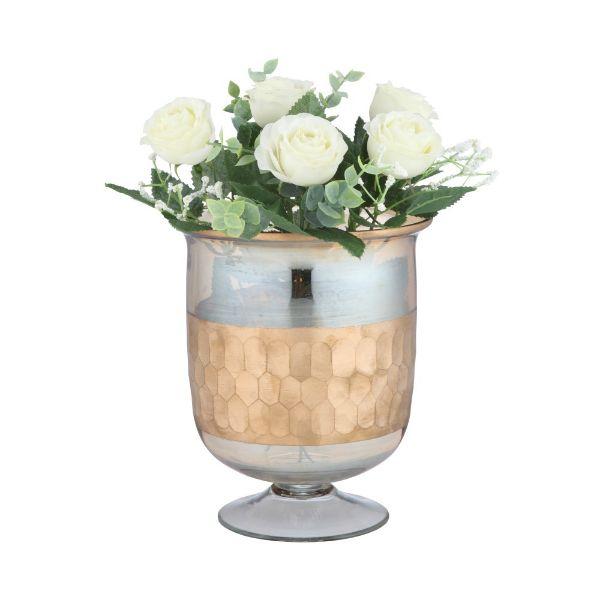 Picture of CARMILLA Table vase D16xH18cm GD/YL