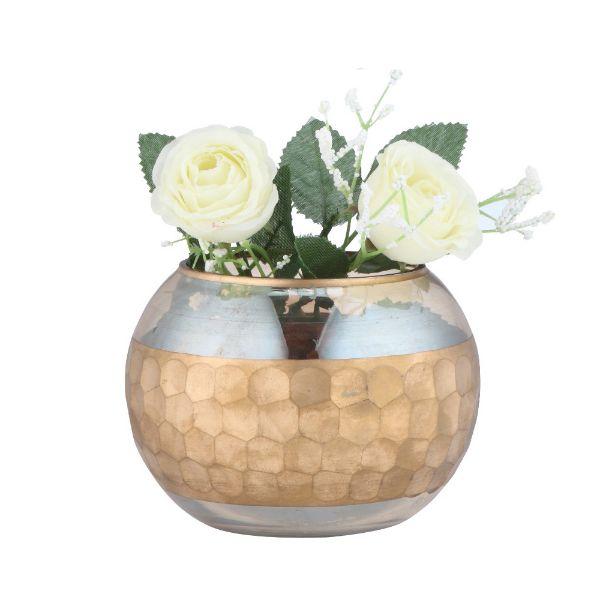 Picture of CARMILLA Table vase D12xH9cm GD/YL