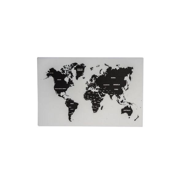 Picture of LANDMASS Placemat 44x28.5cm BK/WT