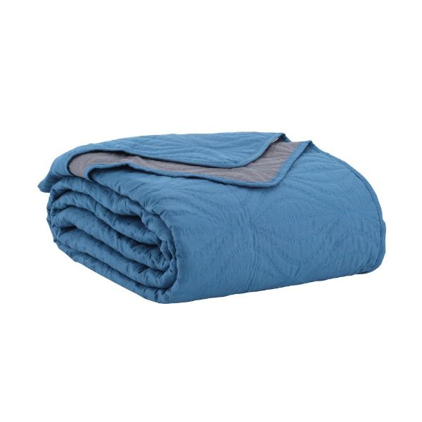 Picture of EIRY Bedspread Twin 200x250cm. BL/GY