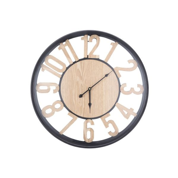 """Picture of TAYSON Wall Clock 23.5"""" NT/BK"""