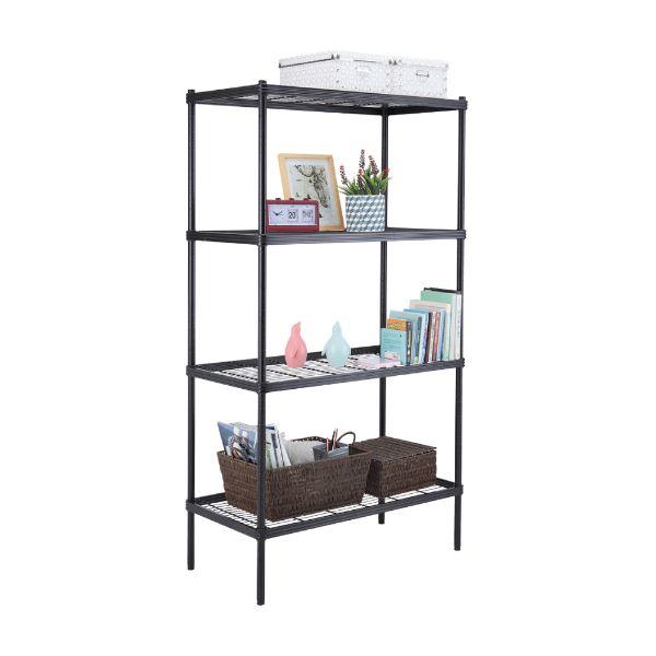 Picture of WIRENET Storage Shelf 4tiers#12045160 BK