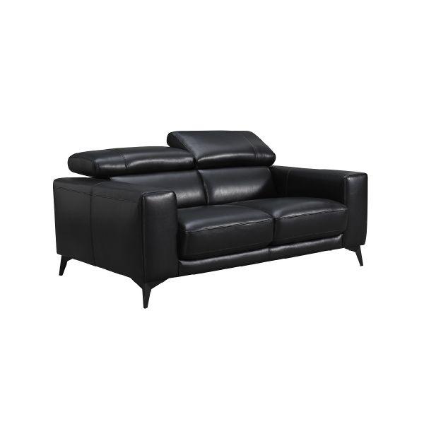 Picture of *ELGIO Leather 2/S sofa BK