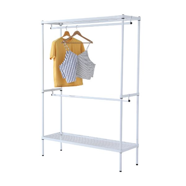 Picture of WIRENET CLOTHES SHELF2BARS#12045180 WT
