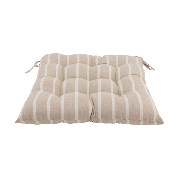 Picture of STRIPE-TRADI CHAIR PAD 40X40X5CM BE