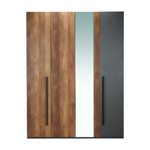 Picture of BAHNHOF Wardrobe 4 dr. AWN/GY