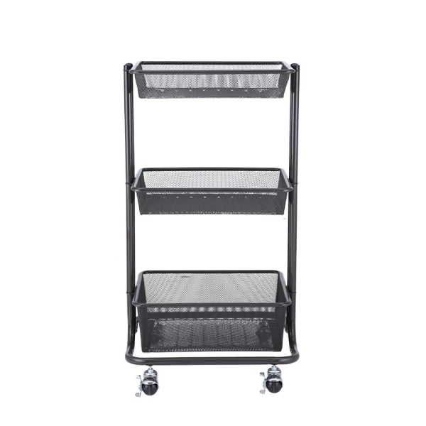 Picture of WIREMESH 3 tiers Storsge Cart BK