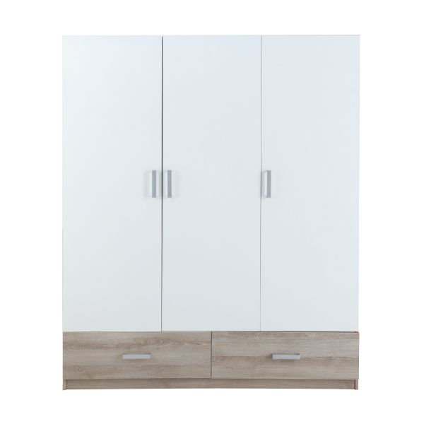 Picture of H-VASH Wardrobe 3dr.+Drawer WT/NT