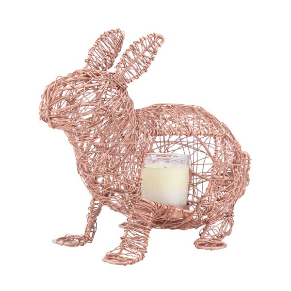 Picture of HARDEN Wire rabbit+candle holder COP