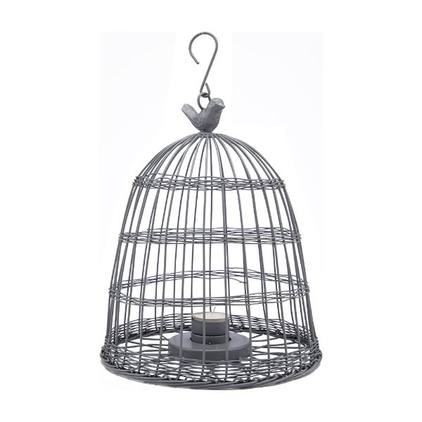 Picture of BAYOU Wire bird cage+candle holder GY