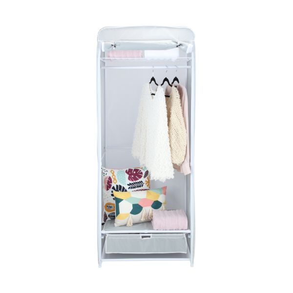 Picture of TORA Clothes rack w/drawer GY/WT