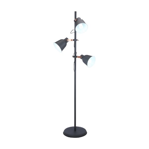 Picture of SABER Floor lamp 58x31x167cm. BK/COP