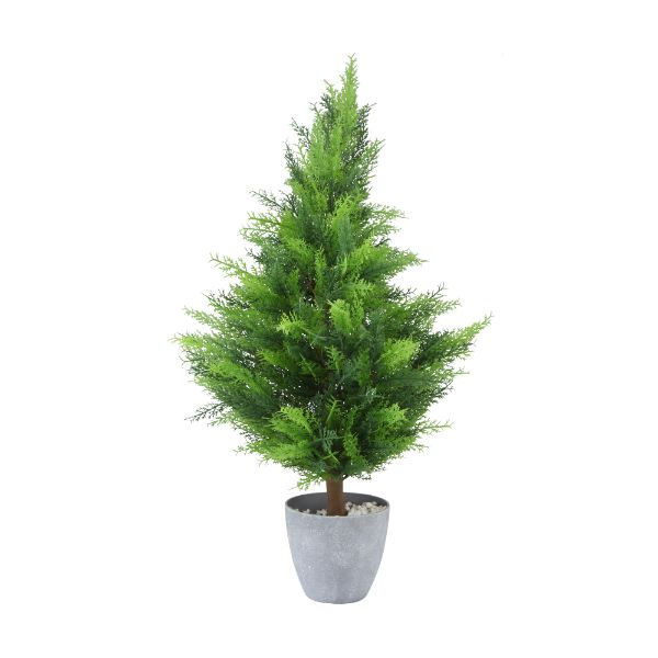 Picture of PINERY Pine tree in pot 50x50x91cm GN/GY