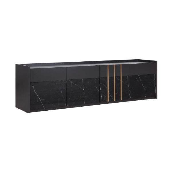 Picture of MARQUINA TV Stand 180 cm. BK/MB
