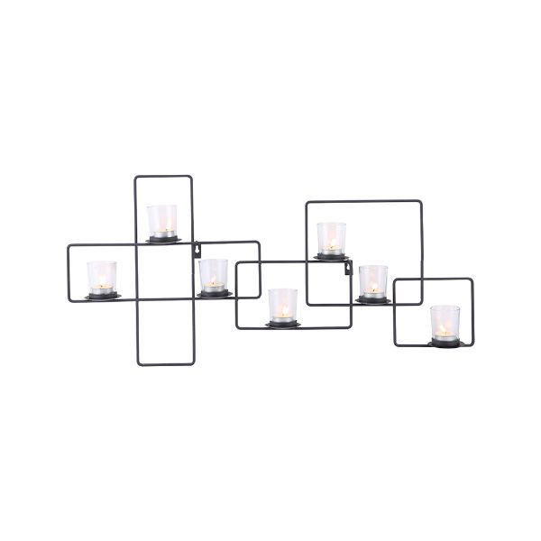 Picture of CIRCUIT Candle wall sconce BK
