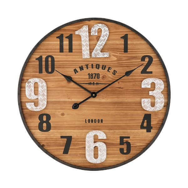 """Picture of ARDAN Wall clock 24"""" NT/BK"""