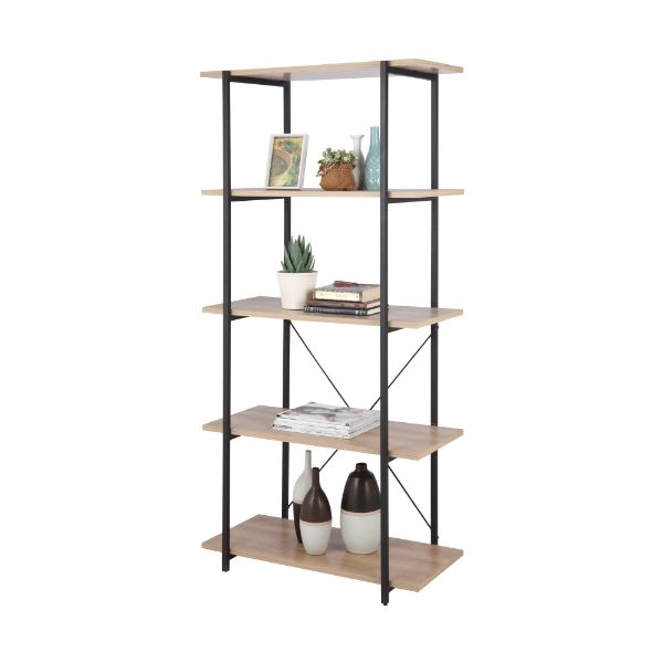 Picture of IRA 5 tier shelves 80 CM NT/BK