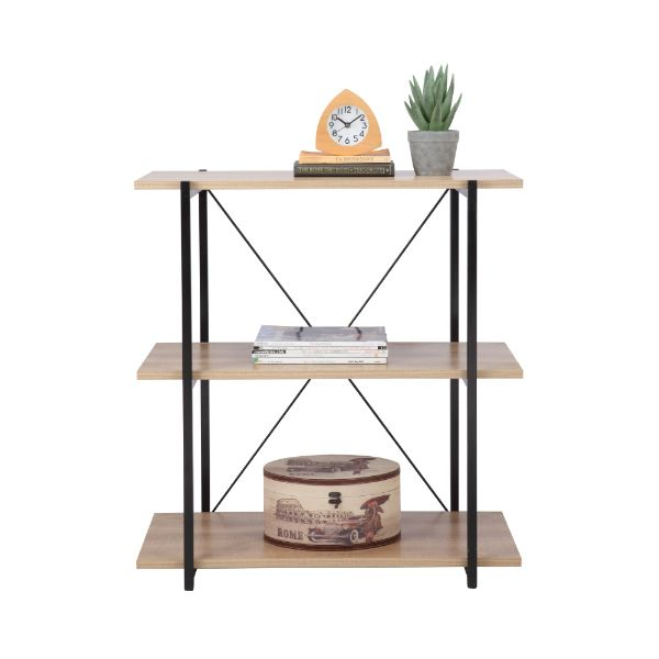 Picture of IRA 3 tier shelves 80 CM NT/BK