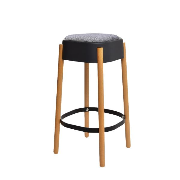 Picture of 302-DCV barstool BK#03/GY#FC78