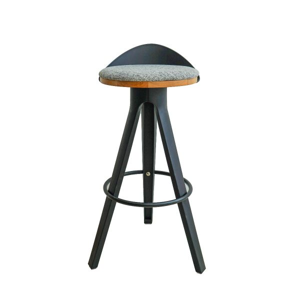 Picture of 301-DCV barstool BK#03/GY#FC78