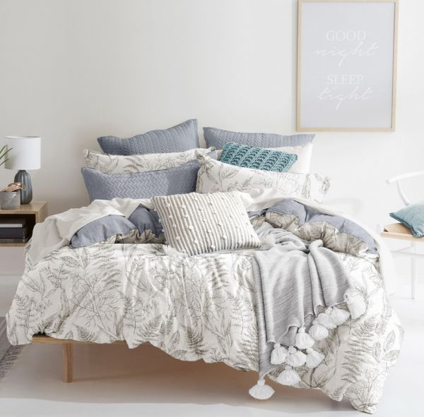 Picture of LEVERINE King Bedding 3pcs/set WT/GY