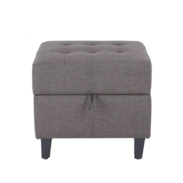 Picture of COLLO/L Fabric stool 1/S #KF14001-4 BN