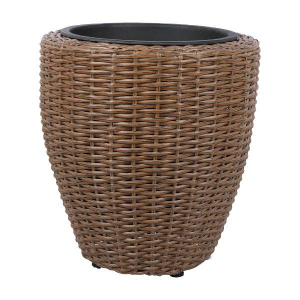Picture of DELTON Wicker plant pot H37cm LBN