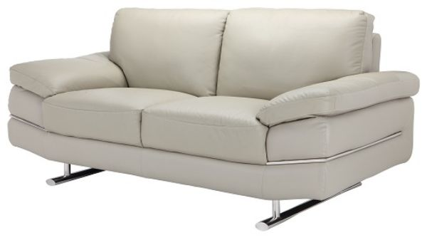 Picture of RICHMOND Half leather 2/S sofa LGY