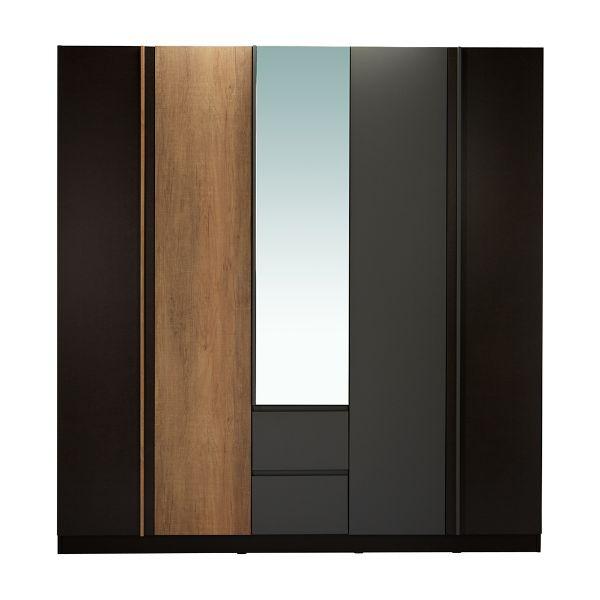 Picture of HARSH -P Wardrobe 5 doors BKBN/CMO