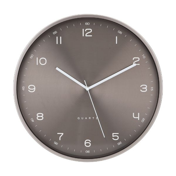 """Picture of DARNELL Wall clock 16"""" BN"""
